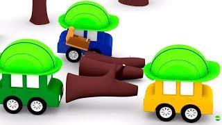 Мультик 4 МАШИНКИ 🚗. #4машинки изучают профессии. Лесорубы. Мультики про #машинки для детей. Диди