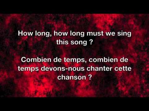 Sunday Bloody Sunday - U2 Lyrics English/Français