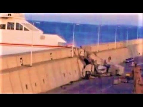 Así chocó el Ferry con el muelle en Las Palmas de Gran Canaria