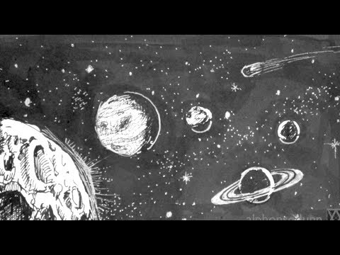 Pen and Ink Drawing Tutorials   How to draw outer space with planets stars
