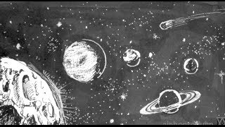Pen and Ink Drawing Tutorials | How to draw outer space with planets stars
