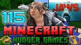 Minecraft: Hunger Games w/Mitch! Game 115 - JAWS!