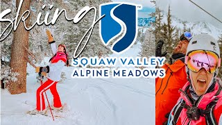 Skiing In Lake Tahoe 2021 | Skiing Squaw Valley Ski Resort During Pandemic