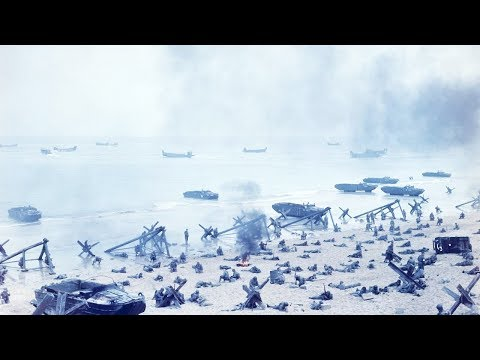 Normandy landings Best Color Footage [HD]