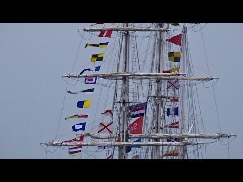 Indian Tall Ship (Sail 2015): INS Tarangini leaves Amsterdam