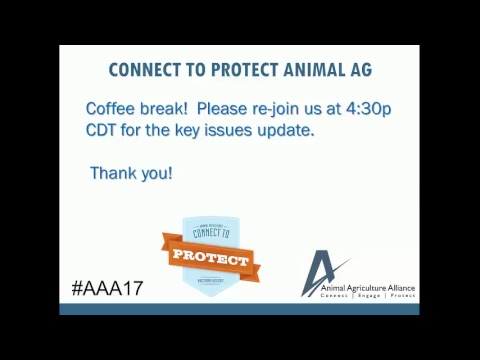 Animal Agriculture Alliance, May 3rd Key Issues Update Stream