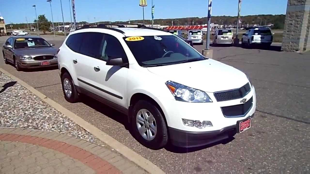 2011 chevrolet traverse ls awd white hometown motors of