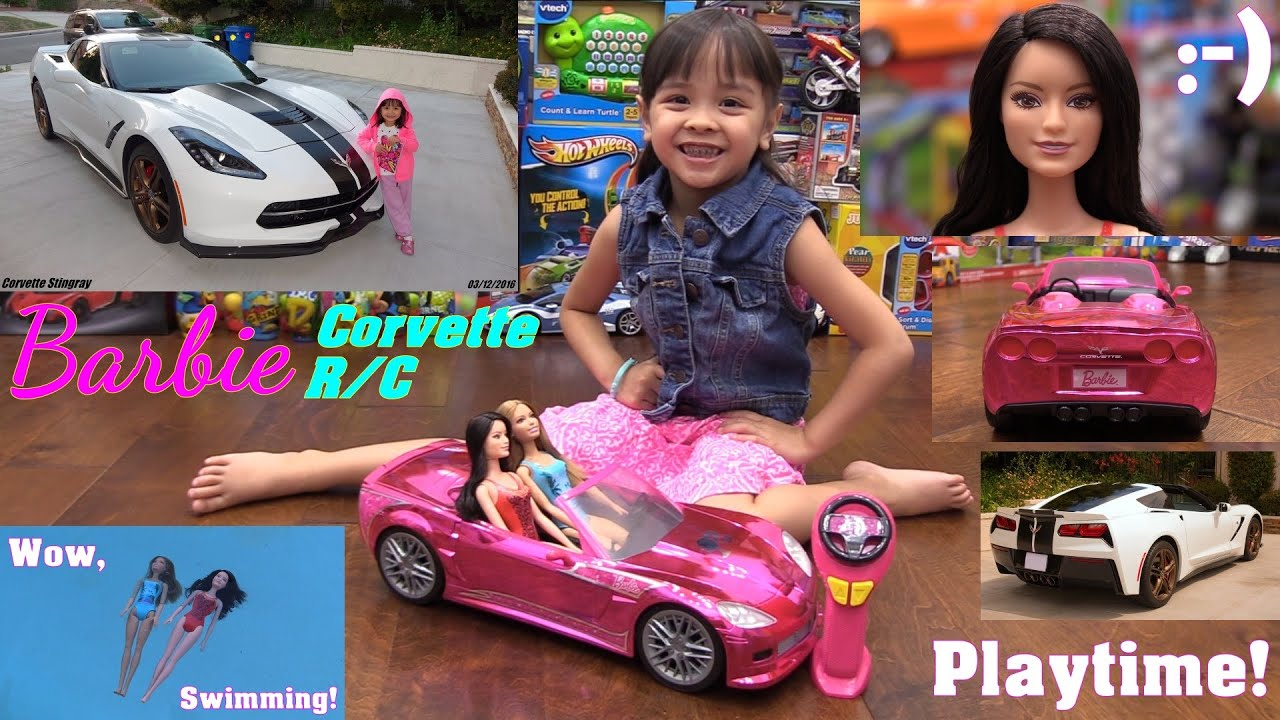 Barbie Remote Control Car Chevrolet Corvette And Barbie