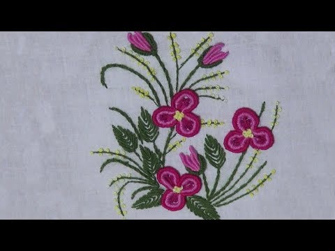 Hand Embroidery : Brazilian Embroidery: Bullion Stitch