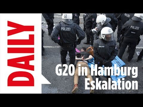 Anti-G20-Demonstration in Hamburg eskaliert - BILD Daily Spezial live