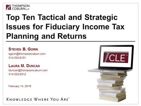 Fiduciary Income Tax Refresher and Update 2018