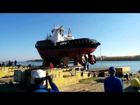 Launching of Damen ASD Tug