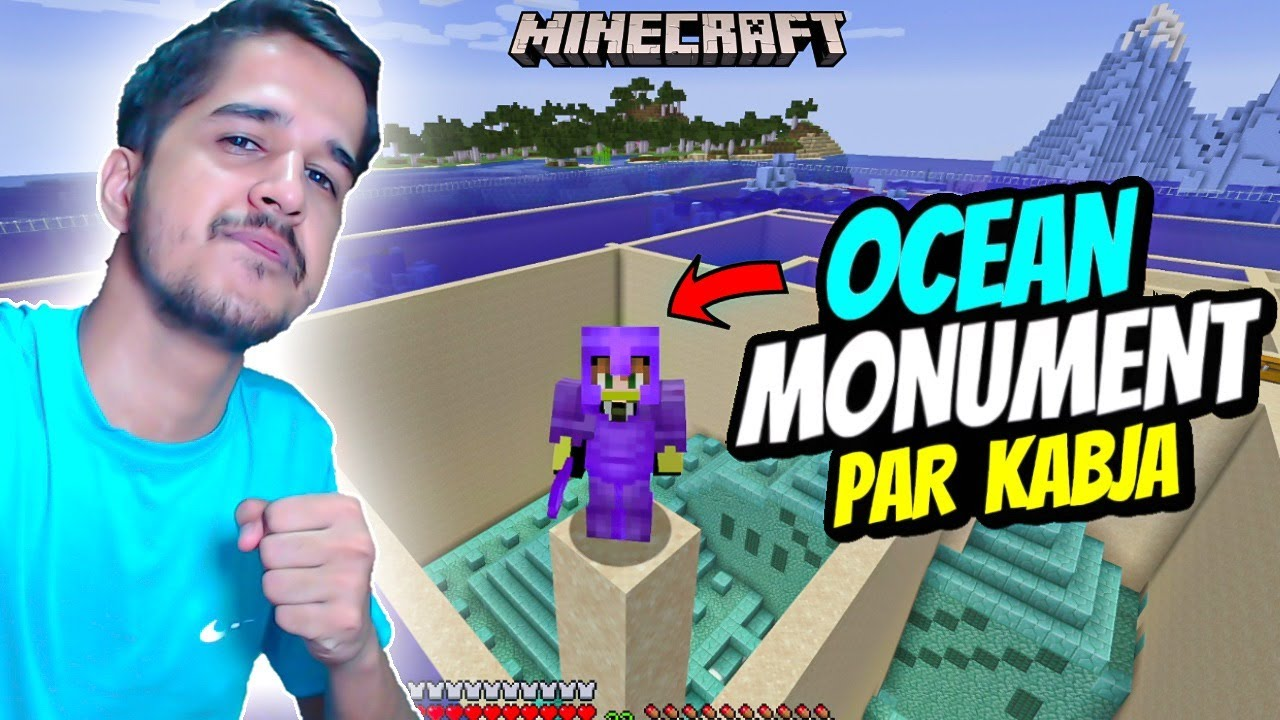 Ocean Monuments THE END  #Minecraft || Day 6  || Desi Army