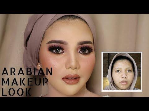 TRY ARABIAN MAKEUP WEDDING LOOK | UCHYLESTARI | BAHASA - YouTube