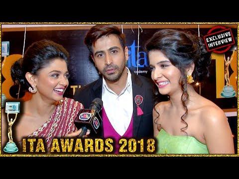 Tanvi Dogra, Dishank Arora and Starcast of Jiji Maa At ITA Awards 2018 | FUN INTERVIEW