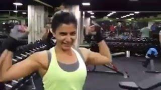 Samantha Weightlifting Workout at Gym | Hot Video