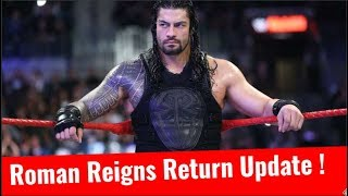 Roman Reigns Return Update Roman Reigns Replaced By Kurt Angle Return WWE TLC 2017 illness