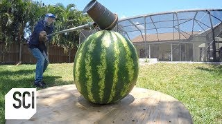 Weapons of Melon Destruction! | Outrageous Acts of Science