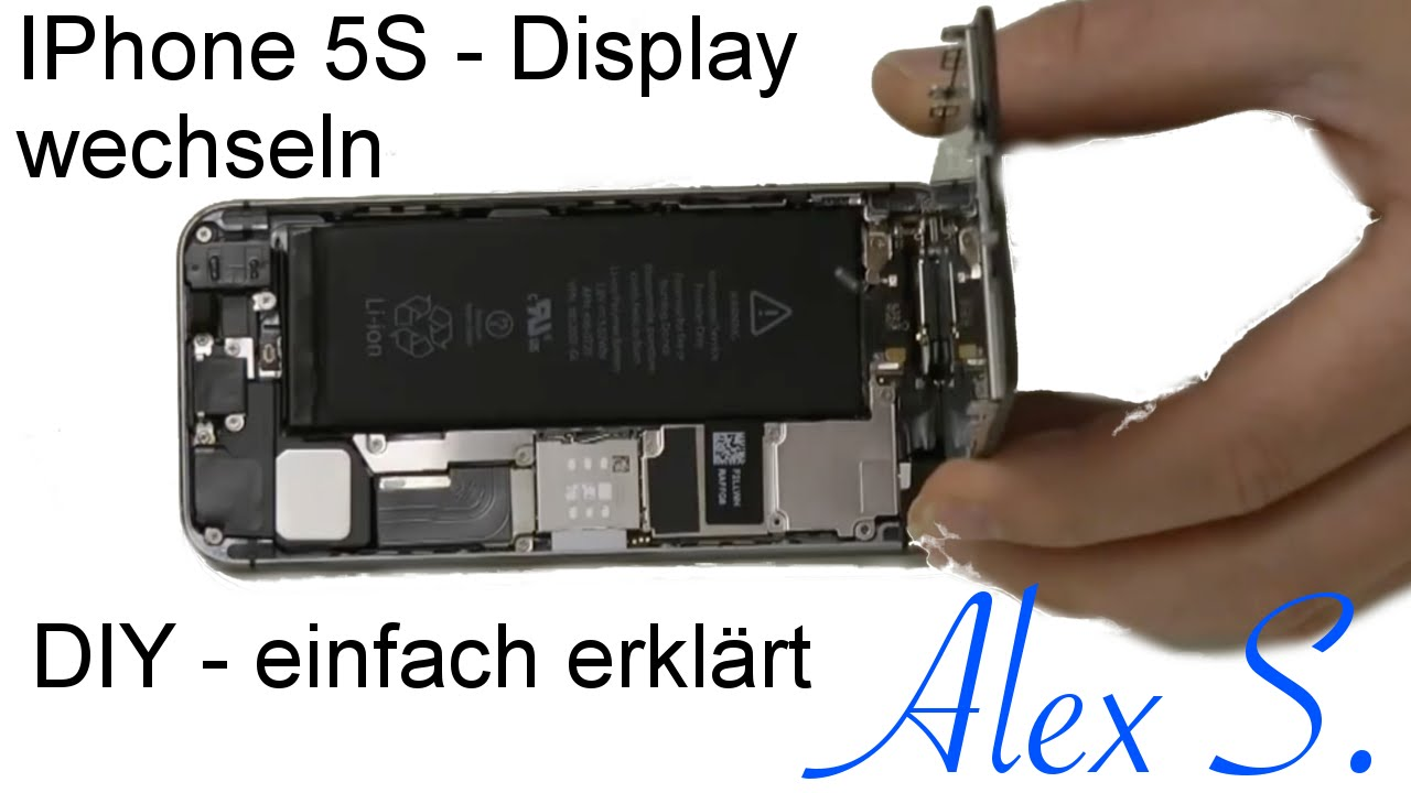 how to change the display of iphone 5s