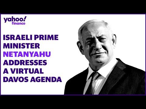 Israeli Prime Minister Netanyahu Addresses A Virtual Davos Agenda
