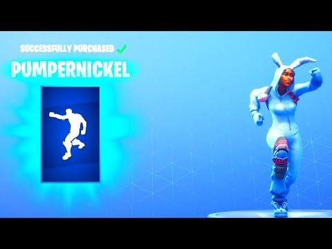 NEW! PUMPERNICKEL DANCE EMOTE! (RABBIT RAIDER Is Back! New item shop Update) Fortnite Battle Royale
