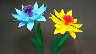 Handcraft Flower: Paper Stick Flower Making at Home | Paper Flowers | Abigail Paper Crafts