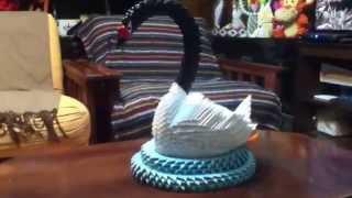 Cisne De Cuello Negro Origami 3d Black Swan.