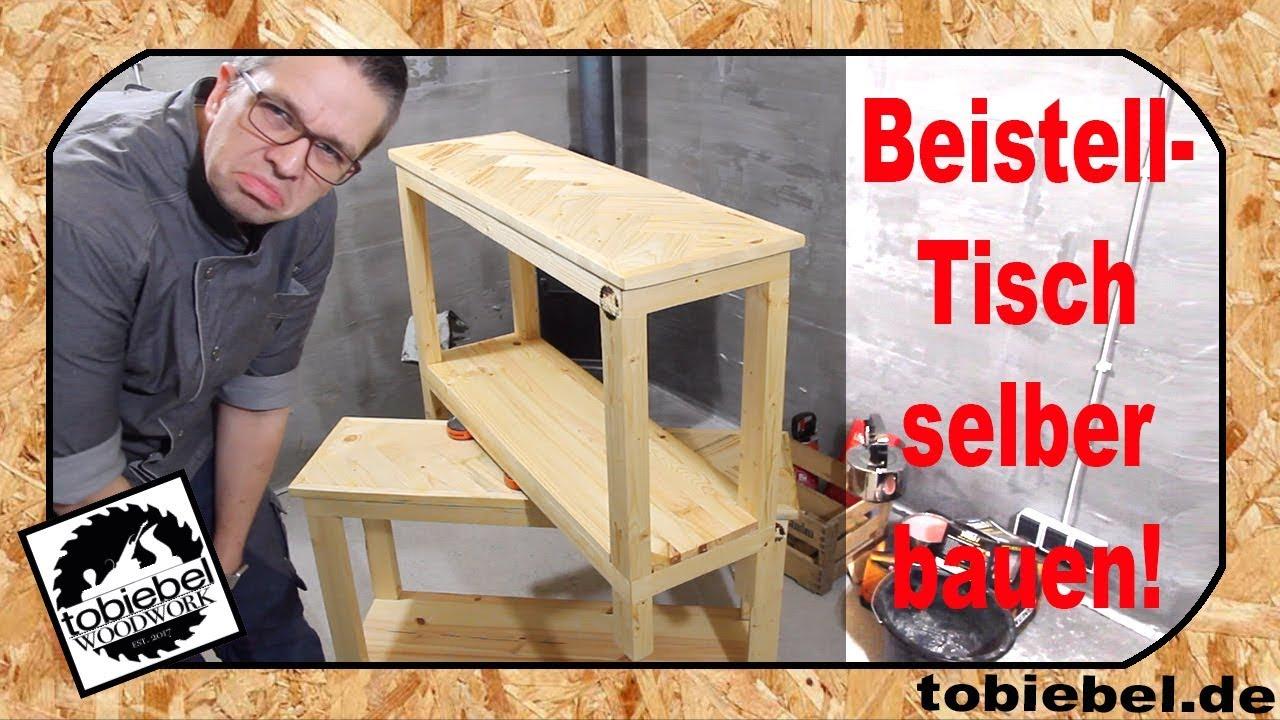 beistelltisch f r 20 euro bauen tisch selber bauen diy. Black Bedroom Furniture Sets. Home Design Ideas