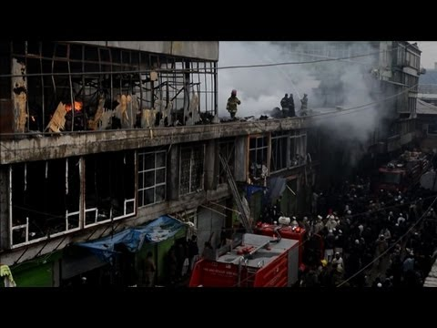 Fire destroys market in Afghanistan capital