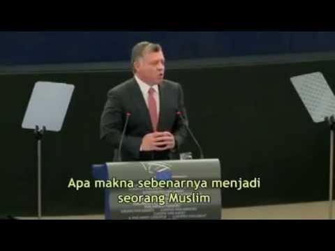 Pidato Menghebohkan Tentang Islam Di Depan Parlemen Uni Eropa (Raja Abdullah II dari Yordania)