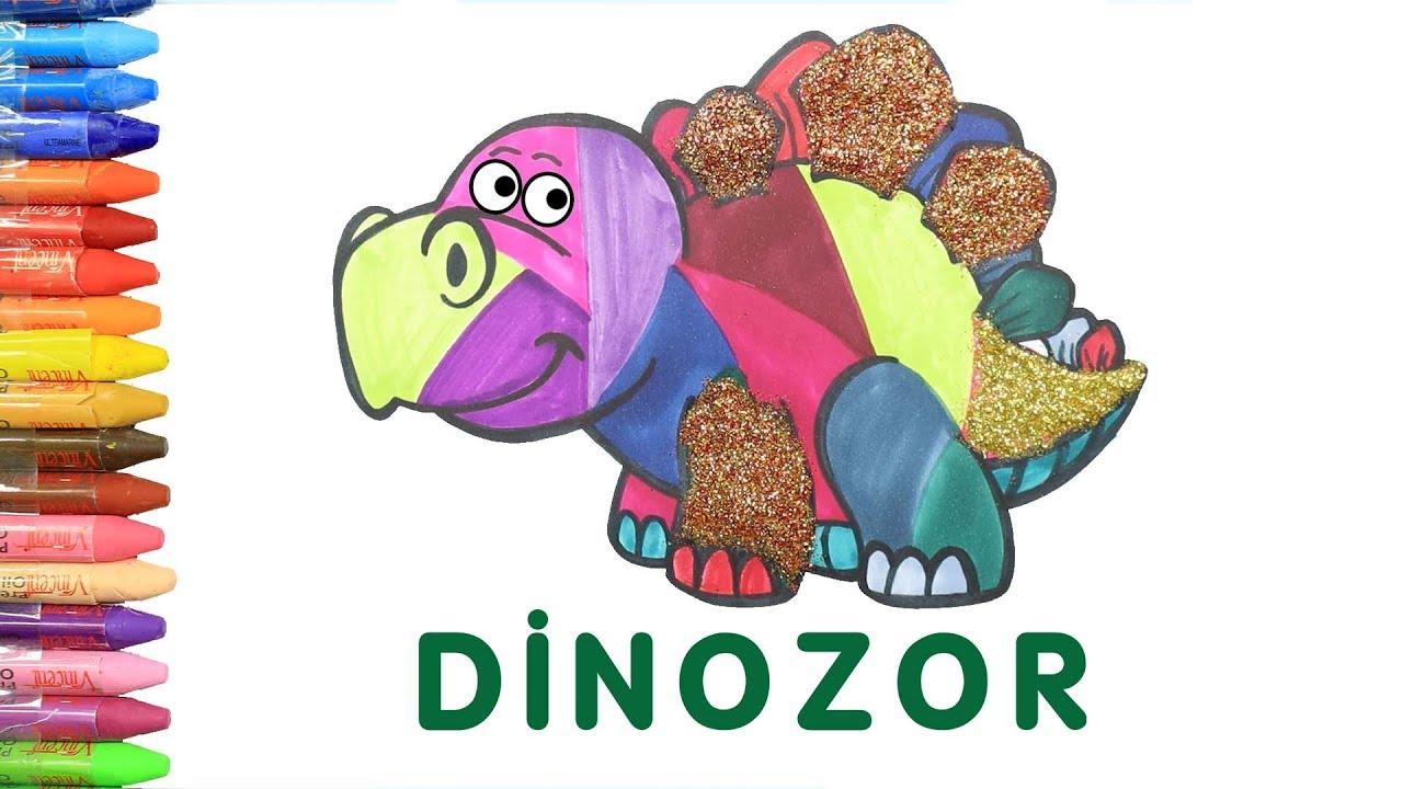 Simli Dinozor Boyama Ile Renkleri Ogreniyorum Cocuklar Icin