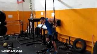 Платонов Владимир: отжимания на кольцах +50 кг, +55 кг и почти +60 кг. СВ 72 кг