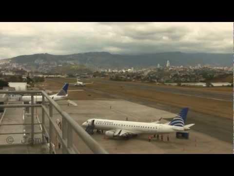 Extreme Toncontin Airport Severals Aircraft MHTG, Honduras HD
