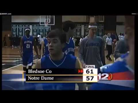 BLEDSOE COUNTY HIGH @ NOTRE DAME HIGH TN (Nathanial Collins vs Tyler Byrd)
