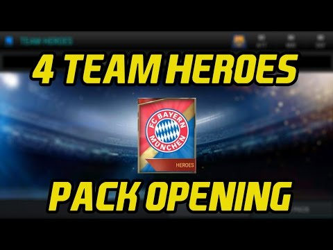 4 Team Heroes Pack Opening | FIFA 17 Mobile