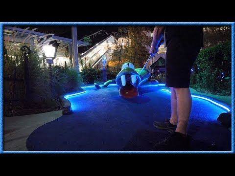 SOME OF THE CRAZIEST MINI GOLF HOLES WE HAVE EVER SEEN! - UNIVERSAL STUDIOS HOLLYWOOD DRIVE-IN!