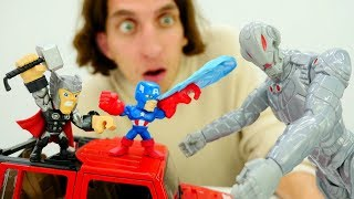 Видео игры. Капитан Америка и Тор против Альтрона.