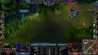 TSM vs SKT T1 | TSM vs SK TELECOM T1 | S3 Worlds 2013 Day 5 Group A | Season 3 Championship D5G3 VOD