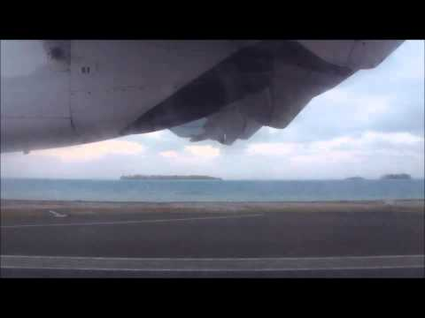 Take Off Raivavae (RVV) French Polynesia - ATR 72-500 Air Tahiti June 2013