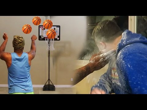 INDOOR BASKETBALL SLAP IN THE FACE WITH FLOUR CHALLENGE! W/ JesserTheLazer Lsk,TTG LOS