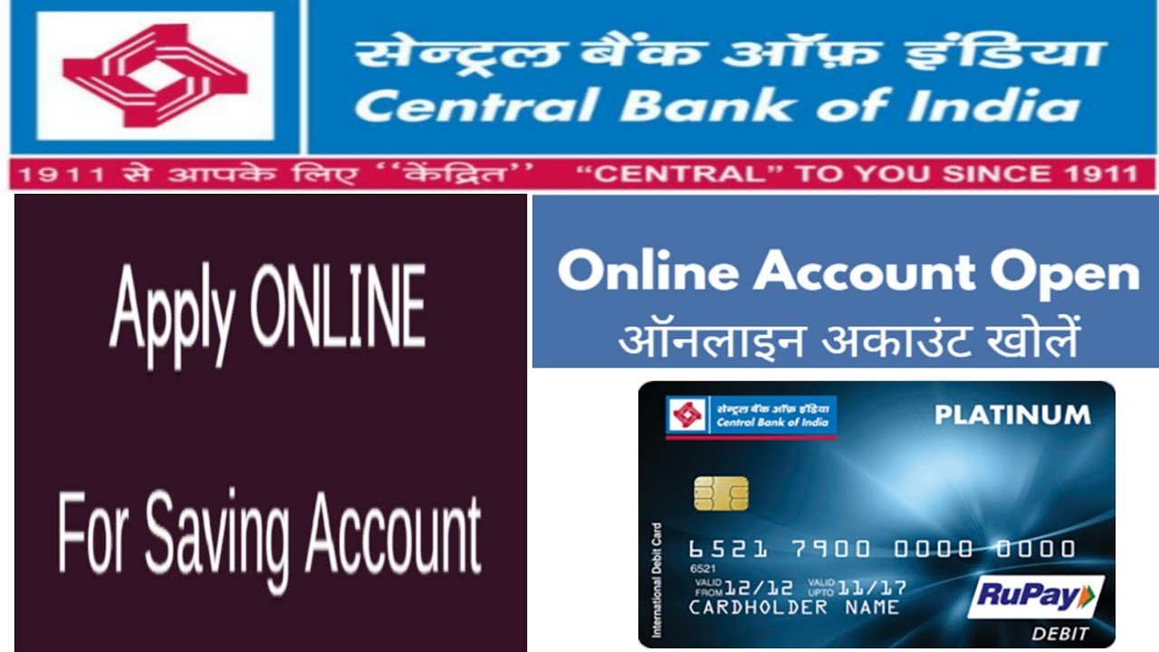 central bank of india saving account