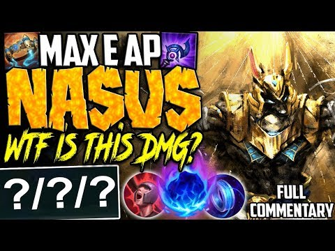 MAX E AP NASUS TOP | JUST WTF IS THIS DAMAGE? TOO OP | Nasus vs GangPlank TOP S8 Ranked Gameplay