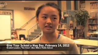 Blue Willow Public School Participates in Give Your School A Hug Day (Feb. 14, 2012)