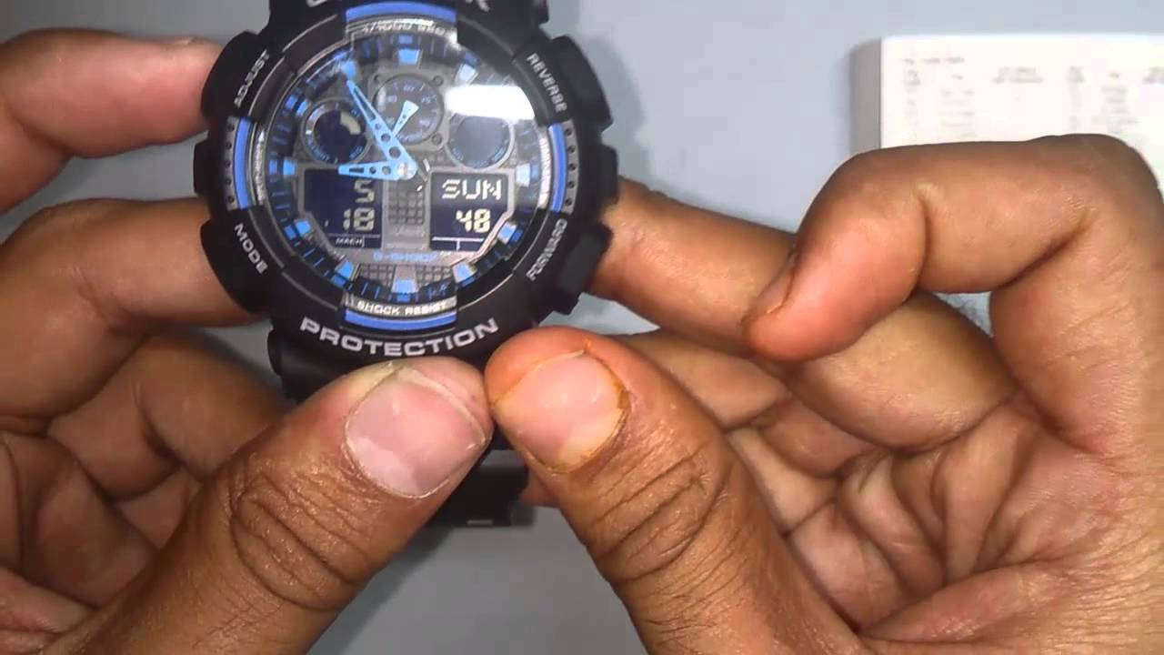 G shock casio watch how to set time
