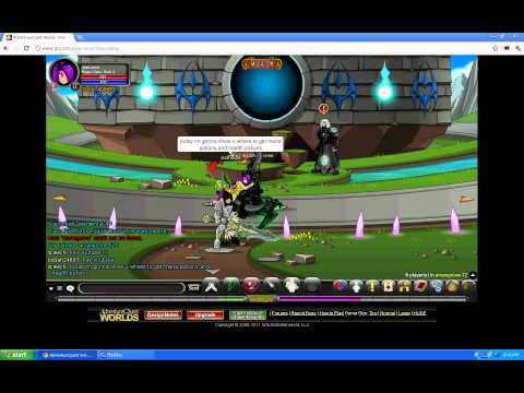 AQW How to get health and mana potions