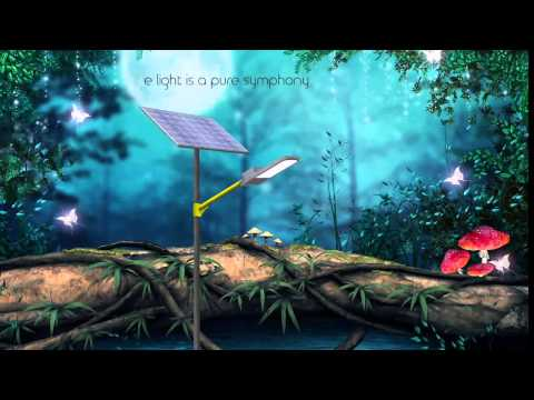 Elight domestic solar garden and street light  Made in india