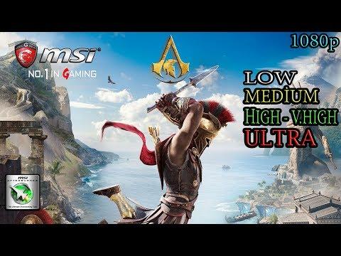 "Assassin's Creed Odyssey - i5 4460 -GTX 1060 Gaming X 6G [FPS Test] ""Low-Medium-High-Ultra"" |"