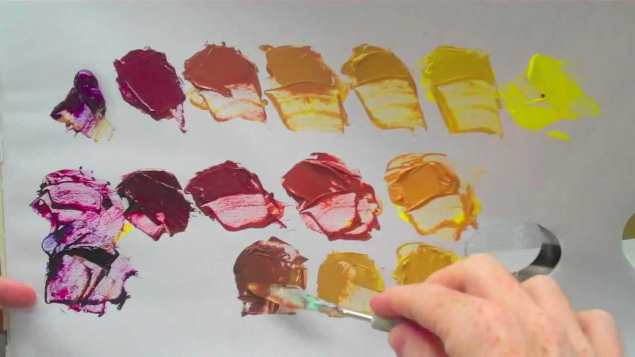 complementary colours yellow and purple acrylic paint youtube