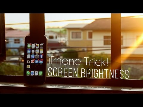 iPhone Screen Brightness Trick!  No More Fiddling
