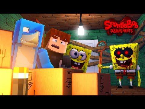 BIKINI BOTTOM UNDER ATTACK BY SPONGEBOB .EXE - Minecraft w/ Hsarky and Scuba Steve